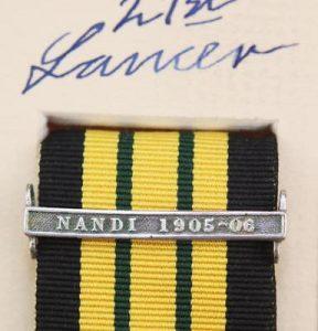 AGSM Nandi Ribbon clasp medal bar
