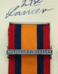 QSA Relief of Kimberley medal ribbon bar