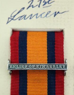QSA Relief of Kimberley medal ribbon bar