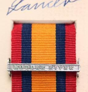 QSA Modder River medal ribbon bar
