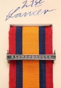 QSA Elandslaagte medal ribbon bar