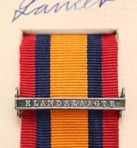 QSA Elandslaagte medal ribbon bar