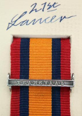 QSA Transvaal medal ribbon bar