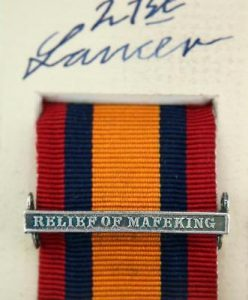 QSA Relief of Mafeking medal ribbon bar