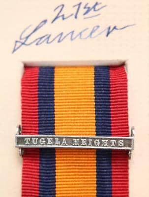QSA Tugela Heights medal ribbon bar