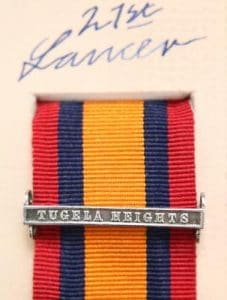 QSA Tugela Heights medal ribbon bar