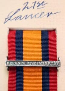 QSA Defence of Kimberley clasp medal ribbon bar