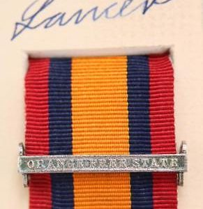QSA Orange free state clasp medal ribbon bar