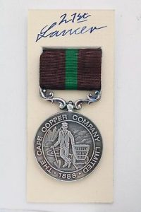 Cape copper co Ookiep medal