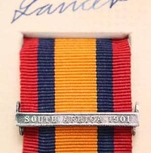 South Africa 1901 Clasp medal Bar