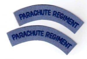 British cloth badge