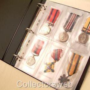 Medal album refils plastic sleeves