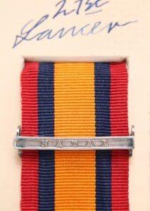 QSA Natal medal ribbon bar