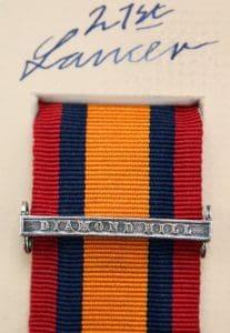 QSA Diamond Hill medal ribbon bar