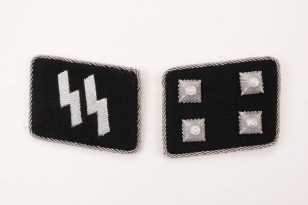 SS gorget collar tabs patch