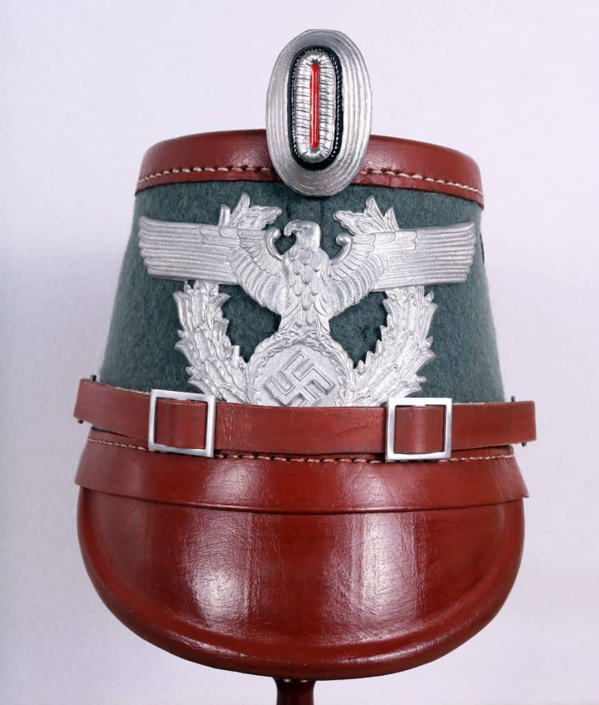 WW2 German Police (Ordnungspolizei ORPO) Officers Parade SHACKO HELMET 1936-45