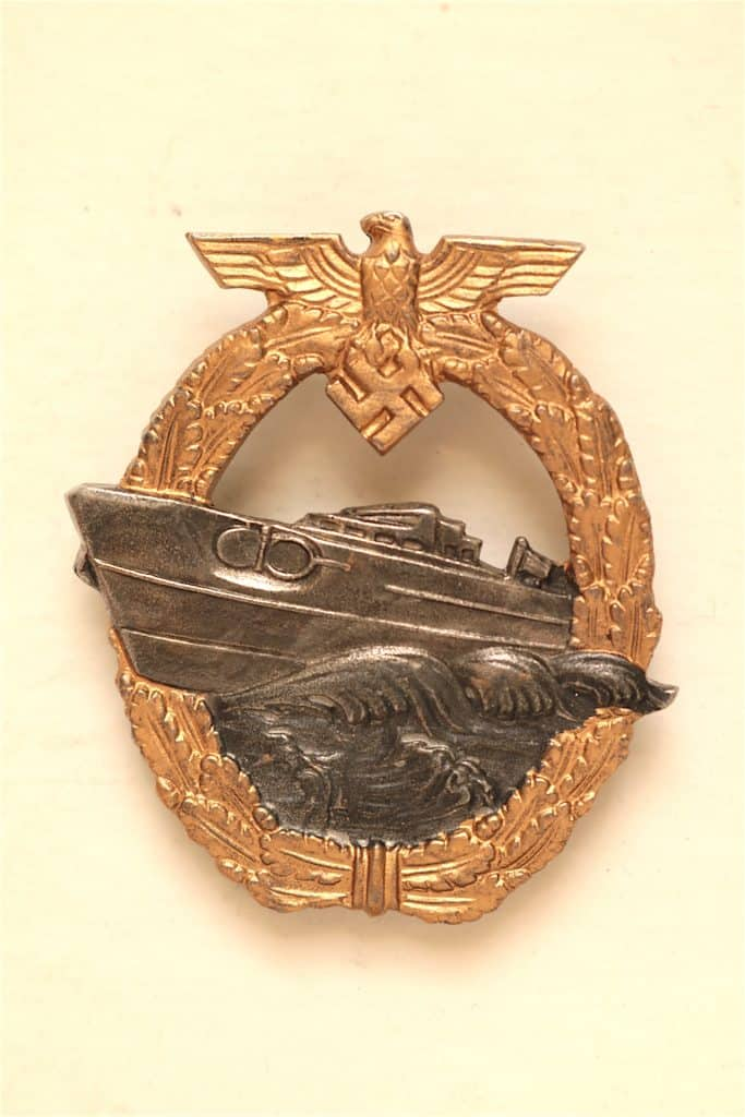 WW2 GERMAN E-BOAT SCHNELLBOOT S-BOOT WAR BADGE