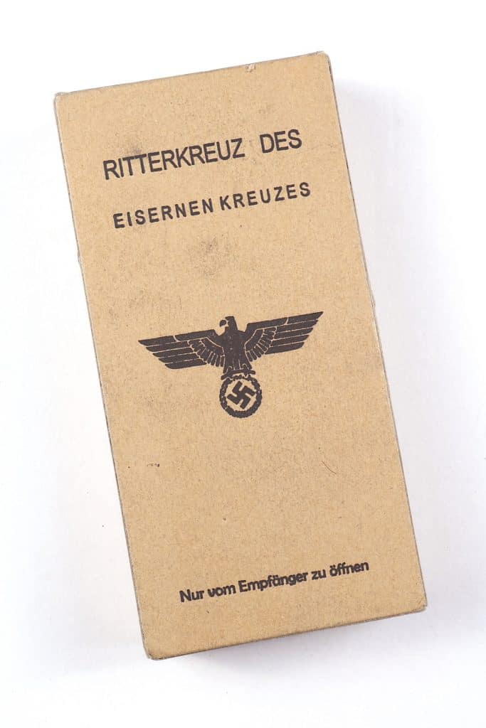 WW2 RKEK German Knight's Cross of the Iron Cross presentation case with field carton
