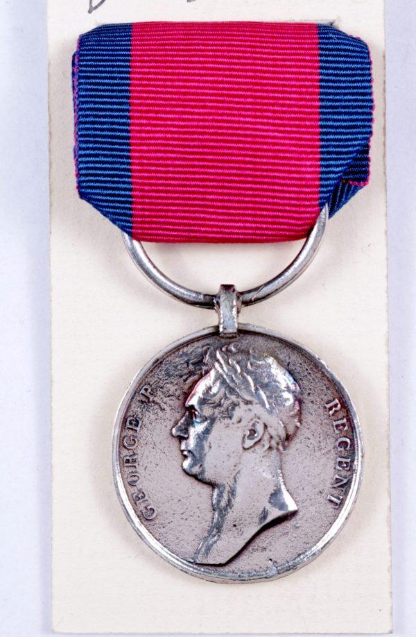 Waterloo medal Prince regent