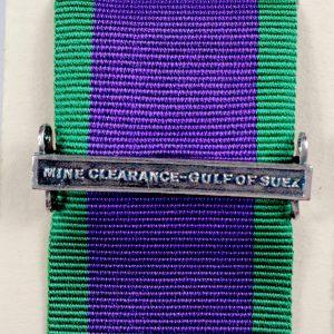 mine clearance gulf of Suez clasp bar