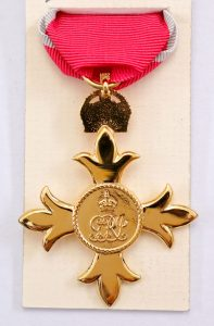 OBE order of the British Empire