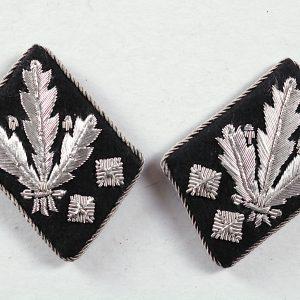 SS collar tab rank insignia