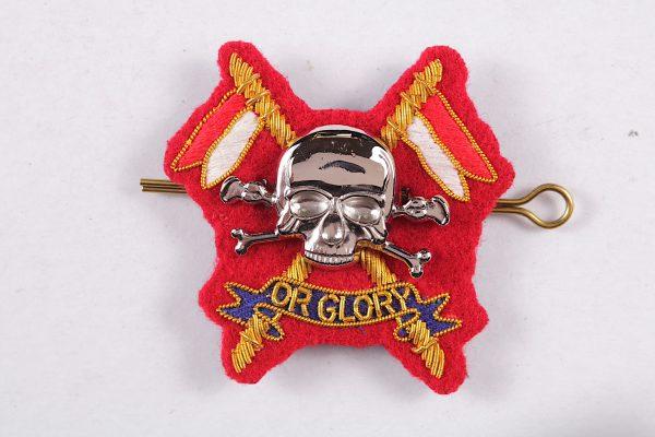 Queens Lancers officer badge
