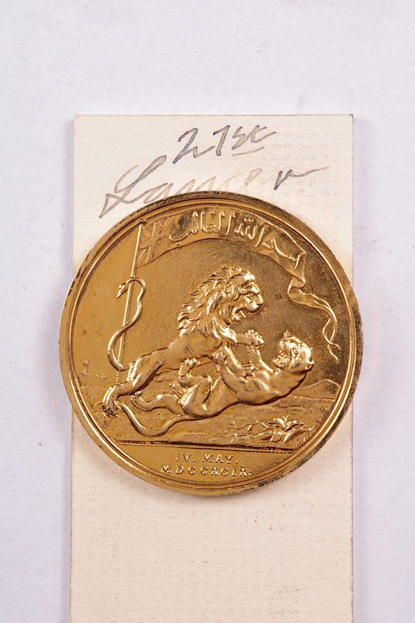 seringapatam medal gold