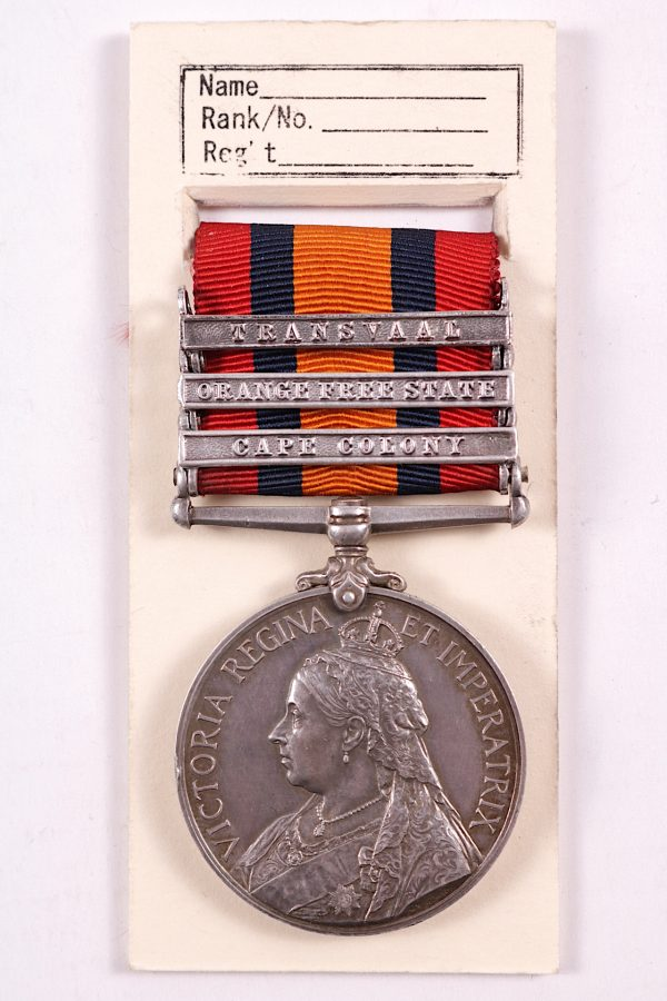 QSA medal with state bars