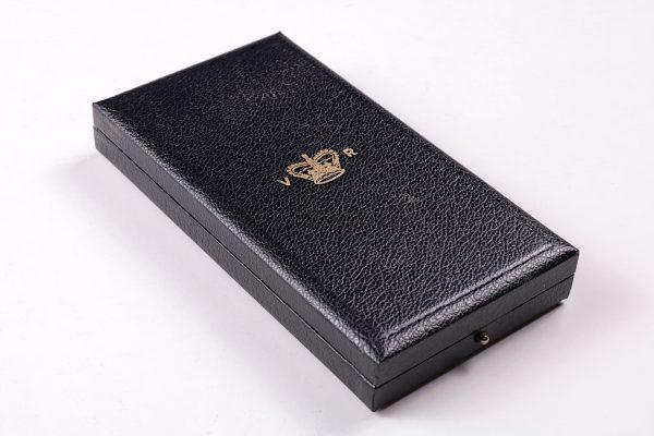 Victorian medal case